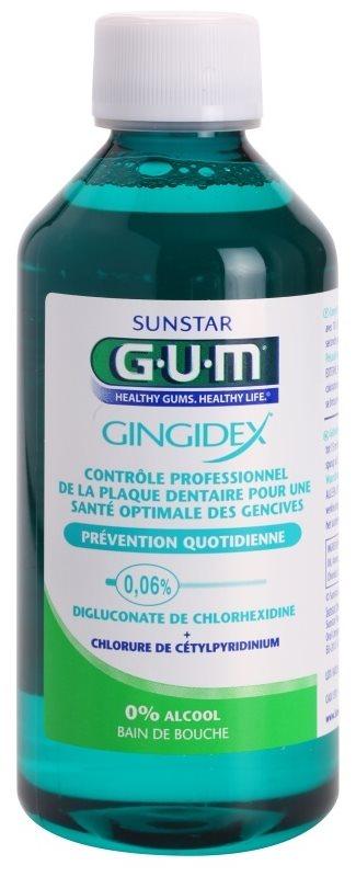 G.U.M Gingidex 0,06% bain de bouche anti-plaque dentaire pour des gencives saines sans alcool