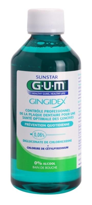 G.U.M Gingidex 0,06% ústna voda proti zubnému povlaku a pre zdravé ďasná bez alkoholu