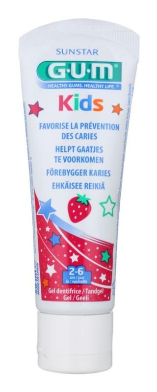G.U.M Kids gel para dentes de crianças com sabor de morango