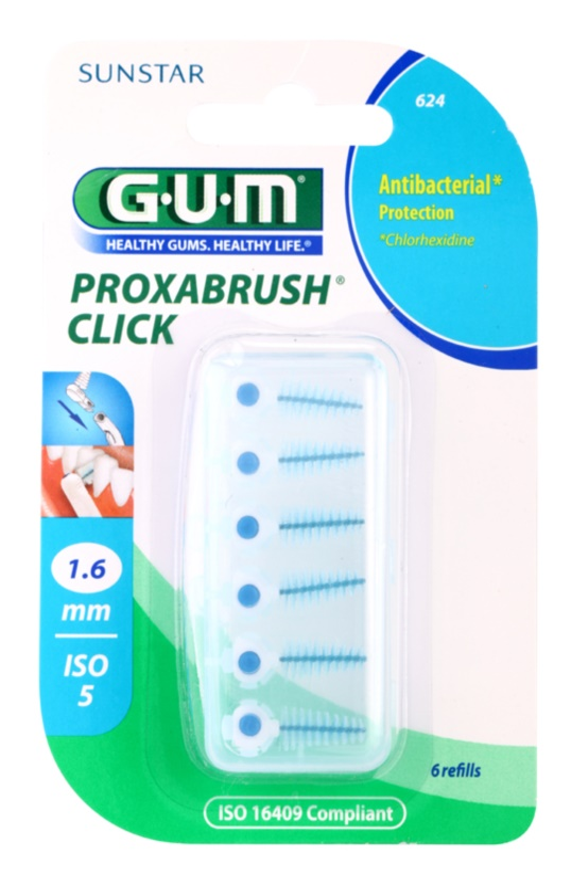 G.U.M Proxabrush Click Spare Interdental Brushes in Blister 6 pcs