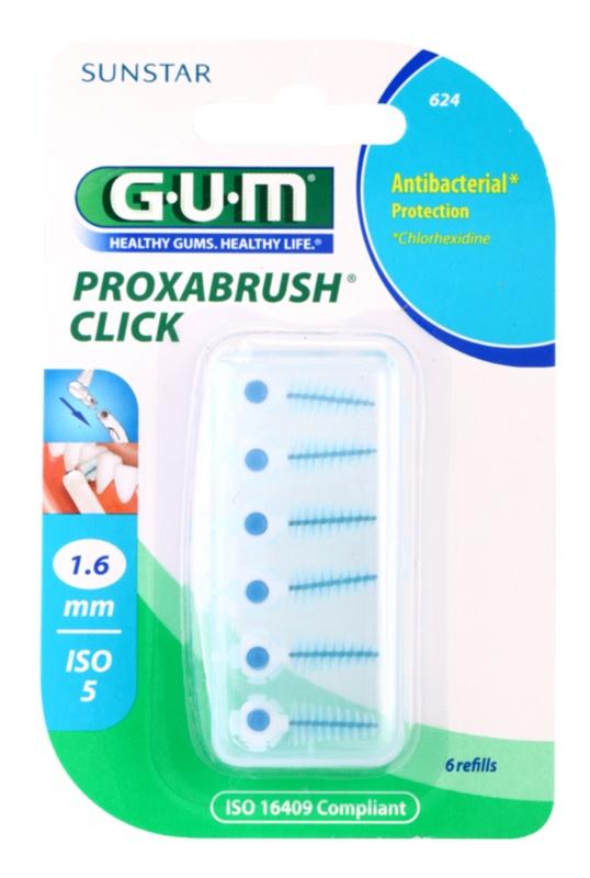 G.U.M Proxabrush Click zestaw zapasowych szczoteczek międzyzębowych 6 szt.