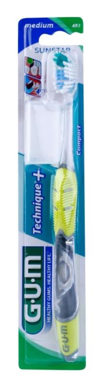 G.U.M Technique+ Compact četkica za zube s kratkom glavom medium