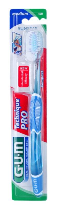 G.U.M Technique PRO Compact szczoteczka do zębów z osłonką podróżną medium