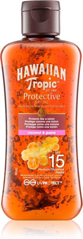 Hawaiian Tropic Protective száraz olaj napozáshoz SPF 15