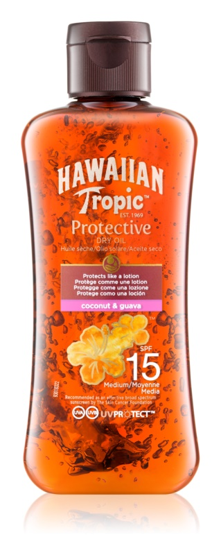 Hawaiian Tropic Protective ulei de bronzat pentru piele uscata SPF 15
