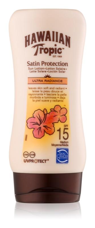 Hawaiian Tropic Satin Protection lapte de corp pentru soare rezistent la apa SPF 15