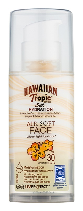 Hawaiian Tropic Silk Hydration Air Soft ochranný krém na tvár SPF 30
