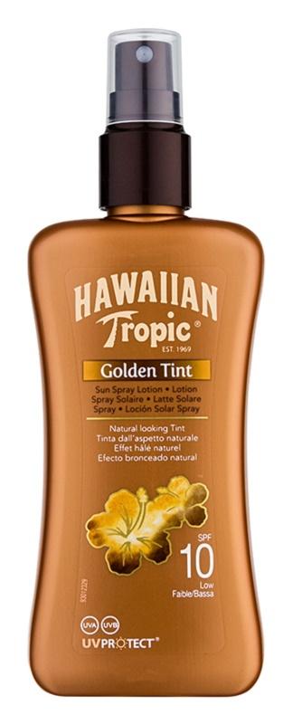 Hawaiian Tropic Golden Tint loción protectora en spray SPF 10