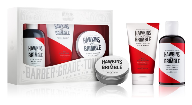 Hawkins & Brimble Natural Grooming Elemi & Ginseng Cosmetic Set IV.