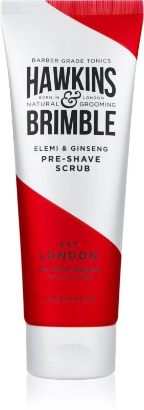 Hawkins & Brimble Natural Grooming Elemi & Ginseng peeling do skóry przed goleniem