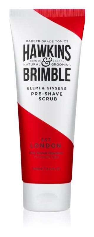 Hawkins & Brimble Natural Grooming Elemi & Ginseng pleťový peeling před holením