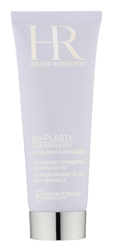 Helena Rubinstein Re-Plasty Renewing Cream for Hands, Neck and Neckline SPF 15
