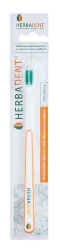 Herbadent Dental Care četkica za zube s kratkom glavom extra soft