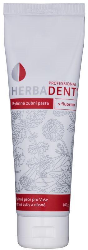 Herbadent Professional билкова паста за зъби с флуорид
