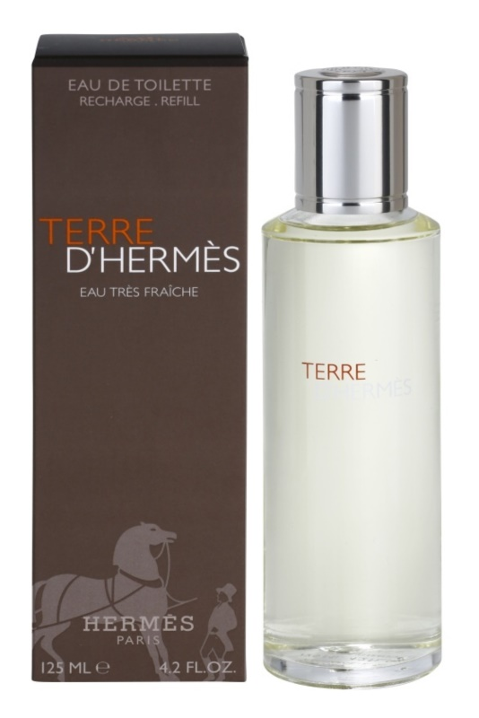 Hermes Terre d'Hermès Eau Très Fraîche Eau de Toilette voor Mannen 125 ml Navulling