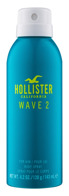 Hollister Wave 2 pršilo za telo za moške 143 ml