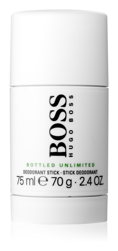 Hugo Boss Boss Bottled Unlimited desodorante en barra para hombre 75 ml