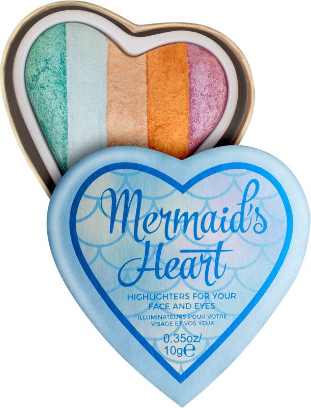 I Heart Revolution Mermaids Heart Eye and Face Highlighter
