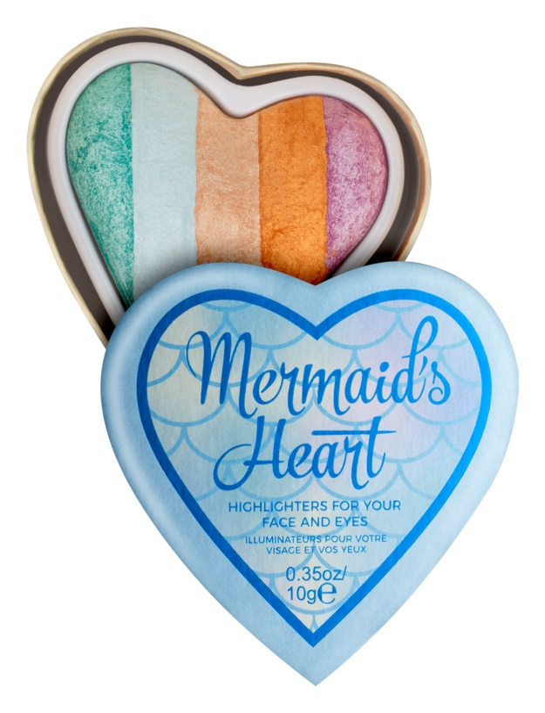 I Heart Revolution Mermaids Heart rozjasňovač na oči a tvář