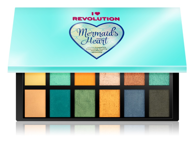 I Heart Revolution Mermaids Heart paleta cieni do powiek