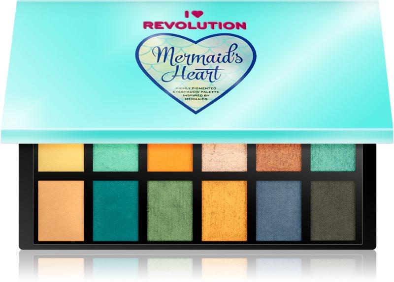 I Heart Revolution Mermaids Heart paleta de sombras de ojos