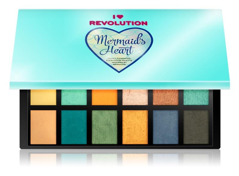 I Heart Revolution Mermaids Heart paleta očných tieňov