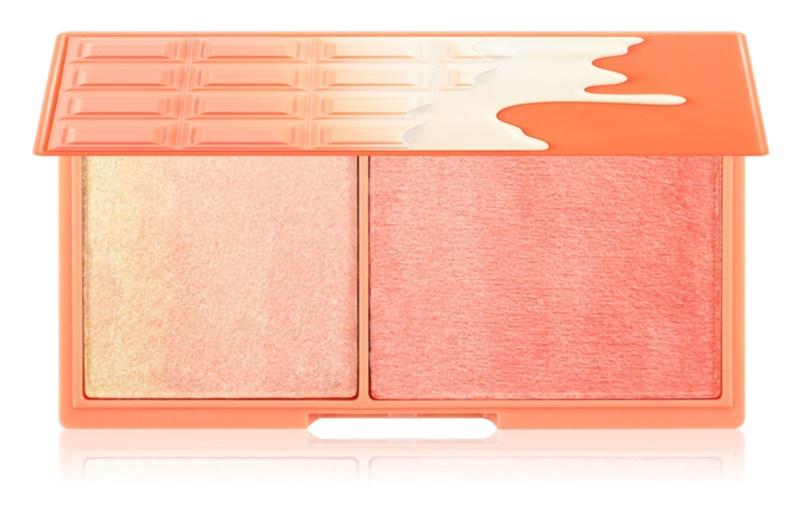 I Heart Revolution Mini Chocolate Peach And Glow palette illuminatrice