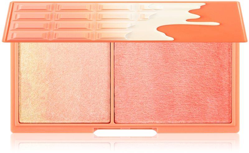 I Heart Revolution Mini Chocolate Peach And Glow освітлююча палетка