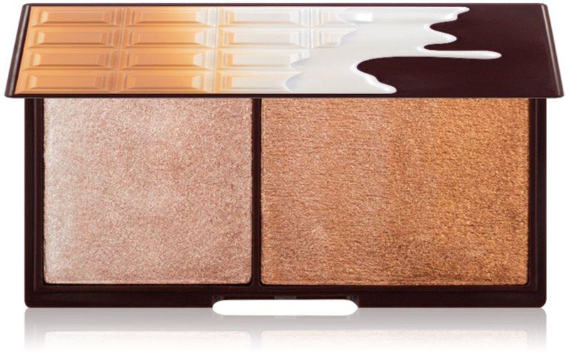 I Heart Revolution Mini Chocolate Bronze And Shimmer rozjasňující a bronzující paletka