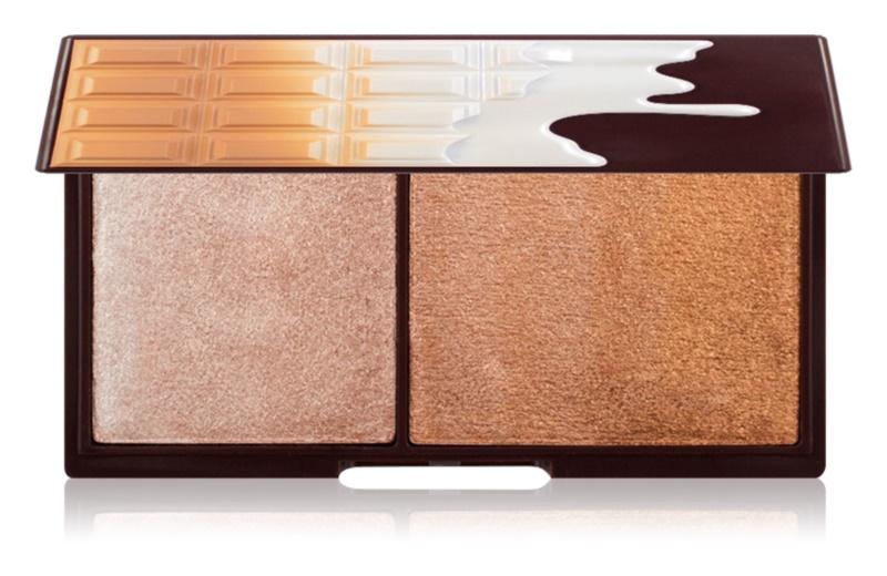 I Heart Revolution Mini Chocolate Bronze And Shimmer rozjasňujúca a bronzujúca paletka