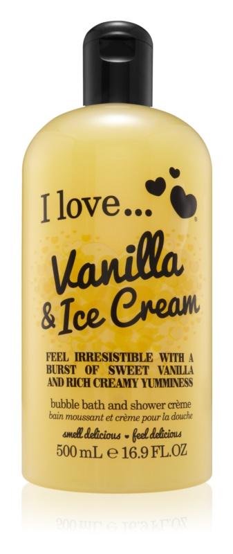 I love... Vanilla & Ice Cream sprchový a koupelový krém