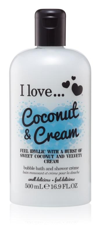 I love... Coconut & Cream óleo gel para duche e banho