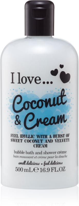 I love... Coconut & Cream tusoló és fürdő géles olaj