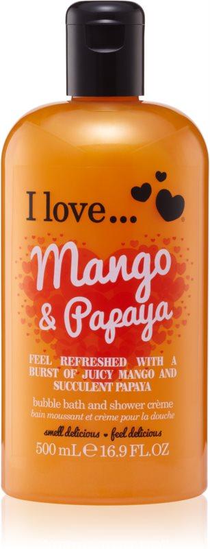 I love... Mango & Papaya krema za prhanje in kopanje