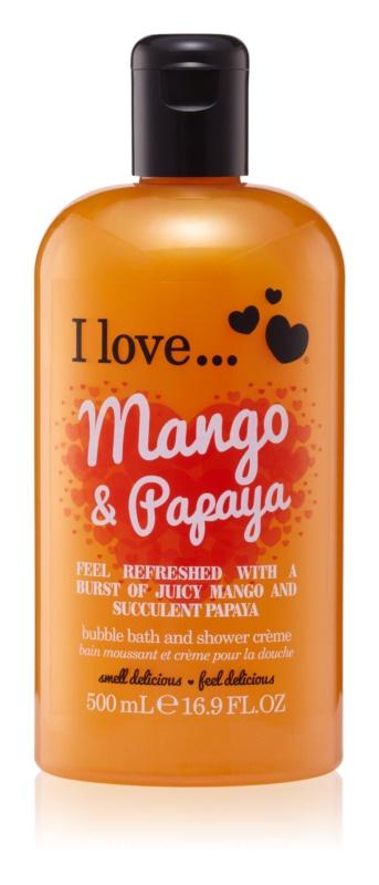 I love... Mango & Papaya sprchový a kúpeľový krém