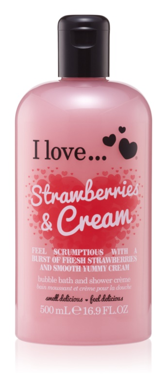 I love... Strawberries & Cream sprchový a koupelový krém