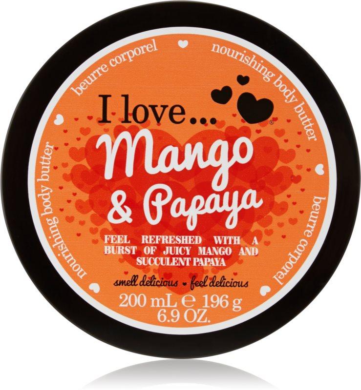 I love... Mango & Papaya tělové máslo
