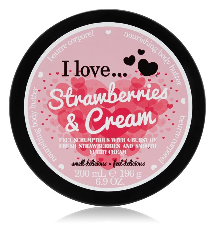 I love... Strawberries & Cream maslo za telo