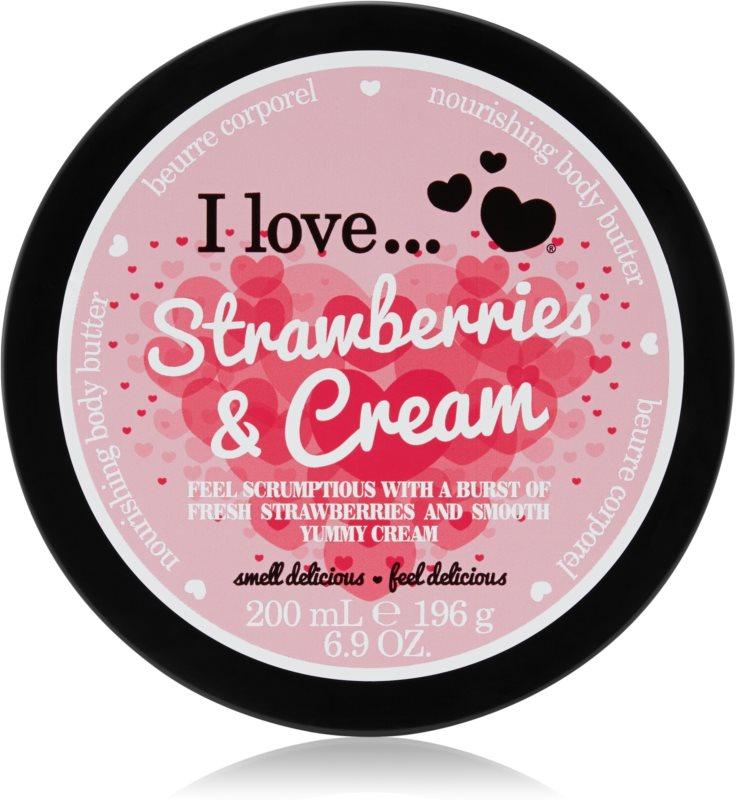 I love... Strawberries & Cream масло для тіла
