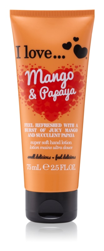 I love... Mango & Papaya crema de maini