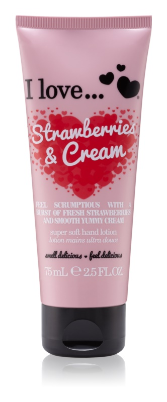 I love... Strawberries & Cream krém na ruky