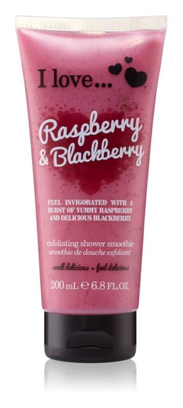 I love... Raspberry & Blackberry gel de dus exfoliant