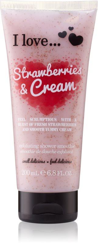 I love... Strawberries & Cream piling za prhanje