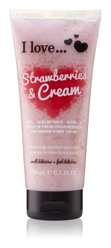 I love... Strawberries & Cream sprchový peeling