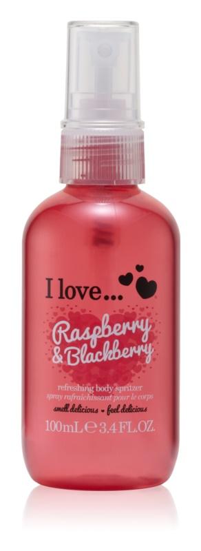 I love... Raspberry & Blackberry osvežujoče pršilo za telo