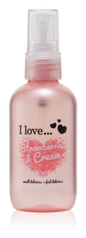 I love... Strawberries & Cream spray de corp racoritor