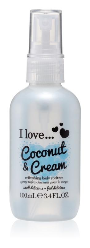 I love... Coconut & Cream освіжаючий спрей для тіла