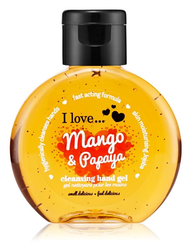 I love... Mango & Papaya gel pentru curățarea mâinilor