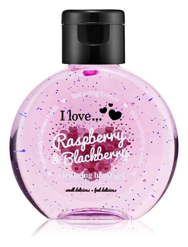 I love... Raspberry & Blackberry очисний гель для рук