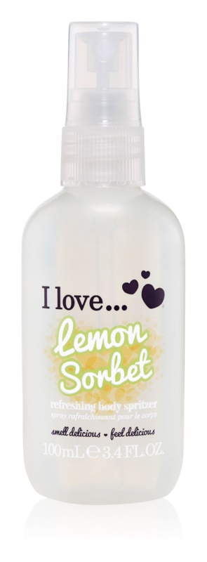 I love... Lemon Sorbet osvežujoče pršilo za telo